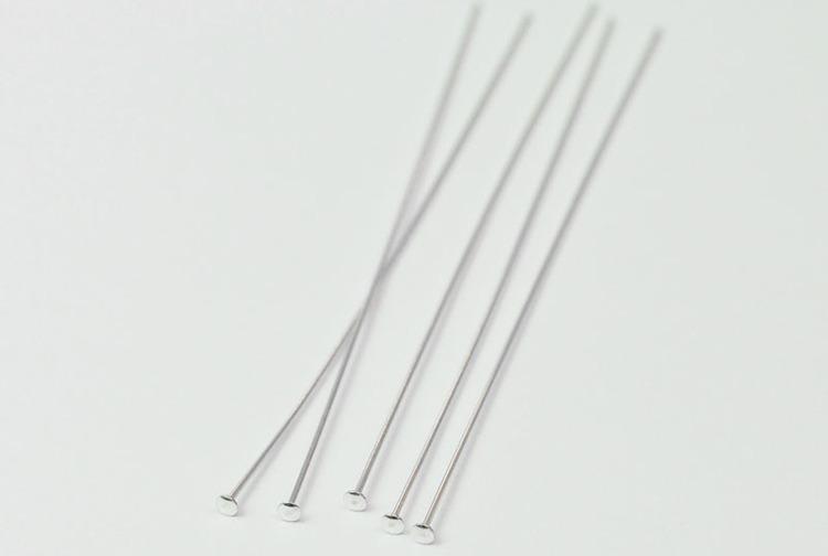 Sterling silver hattpinne 5 cm, 1 st