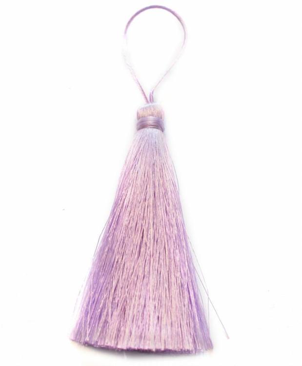 Handgjord silkestofs ljuslila, 1 st