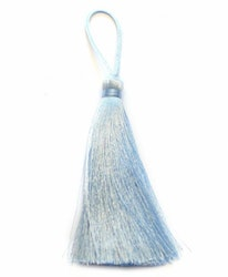 Handgjord silkestofs ljusblå, 1 st