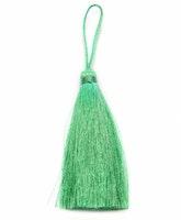 Handgjord silkestofs grön, 1 st