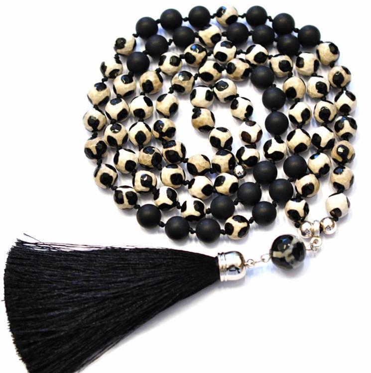 Handgjord silkestofs svart, 1 st