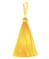 Handgjord silkestofs gul, 1 st