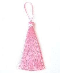 Handgjord silkestofs rosa, 1 st
