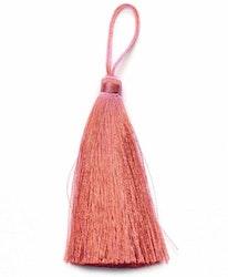 Handgjord silkestofs rosepink, 1 st