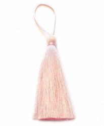 Handgjord silkestofs ljusrosa, 1 st