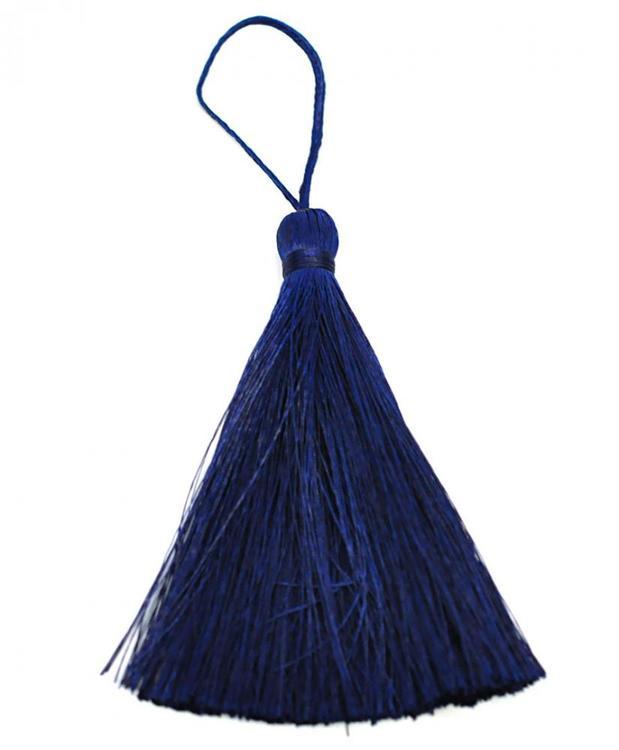 Handgjord silkestofs mörkblå, 1 st