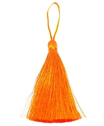 Handgjord silkestofs orange, 1 st