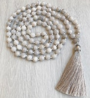 Handgjord silkestofs gråbeige, 1 st
