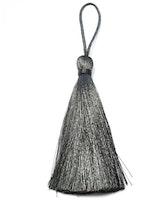 Handgjord silkestofs mörkgrå, 1 st