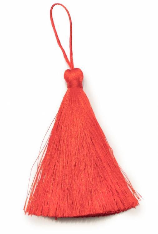 Handgjord silkestofs röd, 1 st