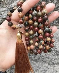 Handgjord silkestofs guldbrun, 1 st