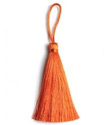 Handgjord silkestofs mörk orange, 1 st