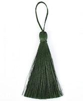 Handgjord silkestofs mörkgrön, 1 st