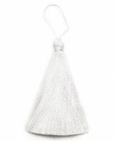 Handgjord silkestofs vit, 1 st