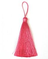 Handgjord silkestofs mörkrosa, 1 st