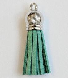 Tofs 35 mm blågrön med silverkåpa, 10 st