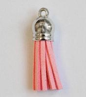 Tofs 35 mm ljusrosa med silverkåpa, 10 st