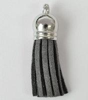 Tofs 35 mm mörkgrå med silverkåpa, 10 st
