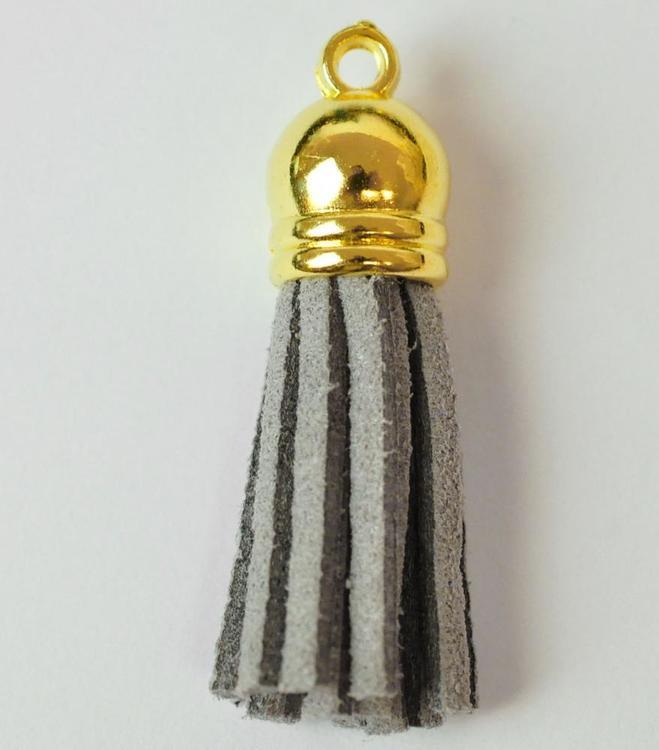 Tofs 35 mm ljusgrå med guldkåpa, 10 st