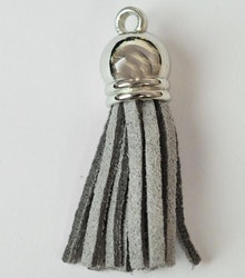 Tofs 35 mm ljusgrå med silverkåpa, 10 st