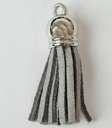 Tofs 35 mm ljusgrå med silverkåpa, 1 st