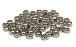 Rostfritt stål klämpärlor 2.5x2 mm, ca 50 st