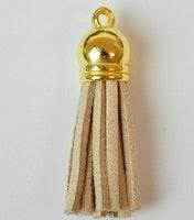 Tofs 35 mm beige med guldkåpa, 10 st