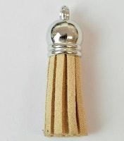 Tofs 35 mm beige med silverkåpa, 10 st