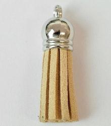 Tofs 35 mm beige med silverkåpa, 1 st