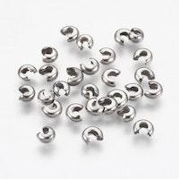 Rostfritt stål knutgömmor 4 mm, 20 st