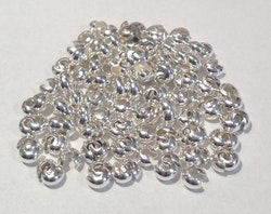 Silverfärgade knutgömmor 5 mm, 20 st