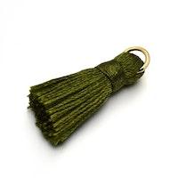 Nylontofs olivgrön 30 mm, 1 st