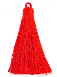 Nylontofs 74 mm röd, 1 st