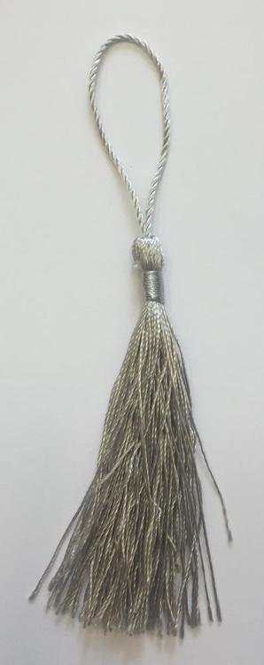 Silkestofs 8 cm ljusgrå, 1 st