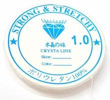 Vit elastisk rund tråd 1.0, 1 rulle