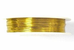 Guldfärgad koppartråd 0.6 mm, 1 rulle