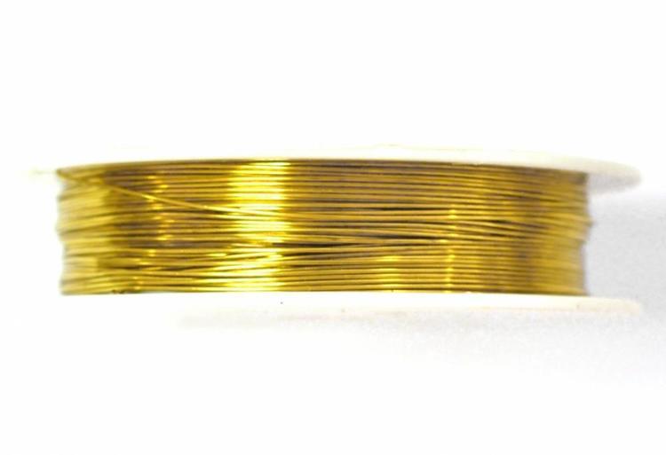 Guldfärgad koppartråd 0.5 mm, 1 rulle