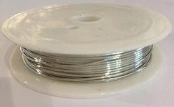 Silverfärgad koppartråd 0.8 mm, 1 rulle