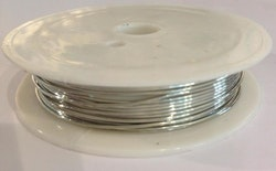 Silverfärgad koppartråd 1 mm, 1 rulle