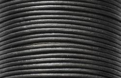 Lädersnöre 2 mm svart, 1 m