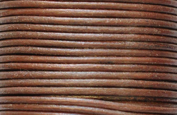 Lädersnöre 2 mm mörkbrunt, 1 m