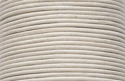 Lädersnöre 2 mm antikvitt, 1 m