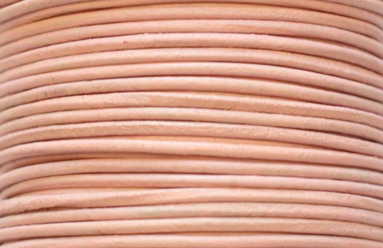 Lädersnöre 1.5 mm ljusrosa, 1 m