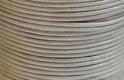 Lädersnöre 2 mm silver metallic, 1 m