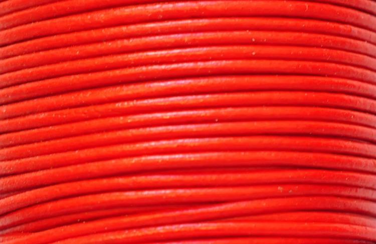 Lädersnöre 1.5 mm röd, 1 m