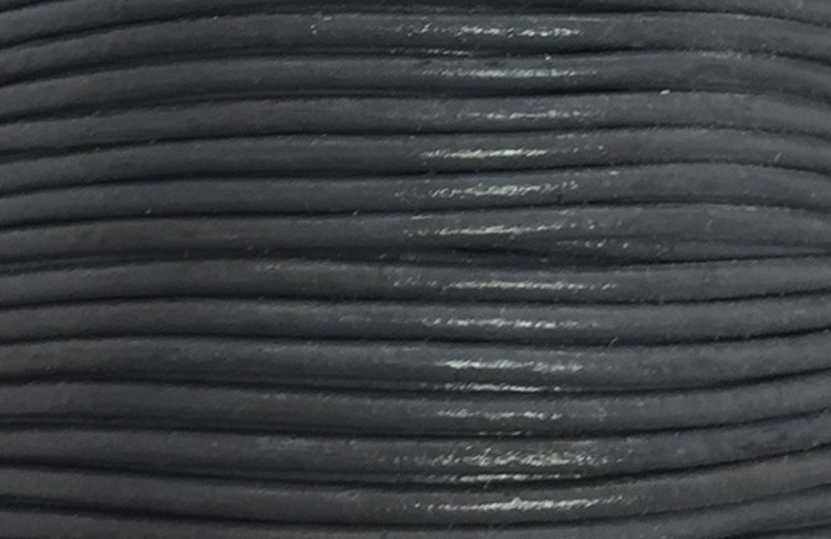 Lädersnöre 1.5 mm mörkgrå, 1 m