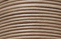 Lädersnöre 1.5 mm ljusbrunt, 1 m