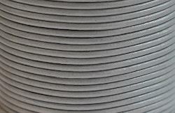 Lädersnöre 2 mm ljusgrått, 1 m