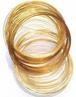 Guldfärgad memorywire för armband, ca 100 varv