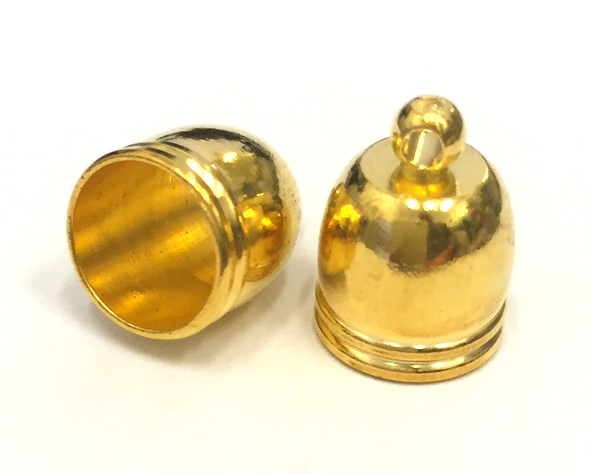 Guldfärgad kåpa 14 mm, 10 st